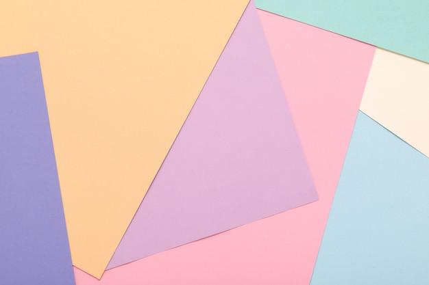 Priorità bassa di minimalismo di struttura della carta colorata. forme e linee geometriche minimali