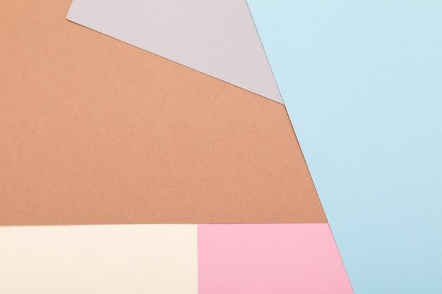 Priorità bassa di minimalismo di struttura della carta colorata. forme e linee geometriche