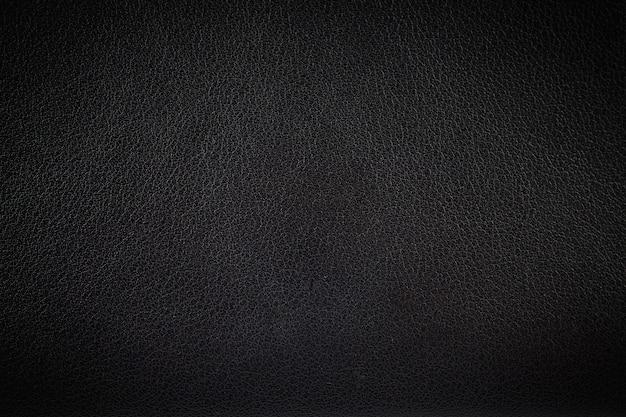 Priorità bassa di struttura di cuoio nera di superficie del primo piano