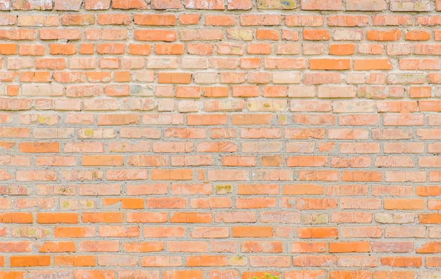 Priorità bassa di vecchio muro di mattoni rosso