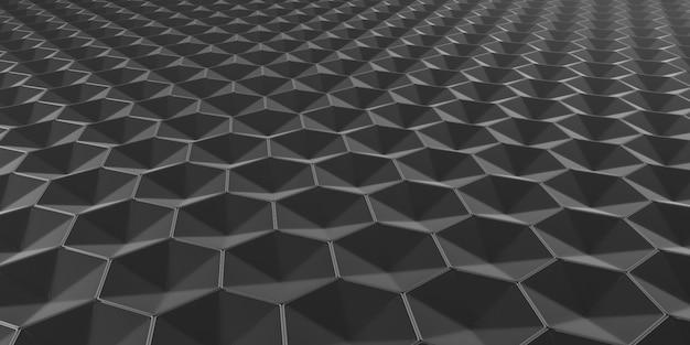 Priorità bassa esagonale astratta geometrica della carta da parati 3d
