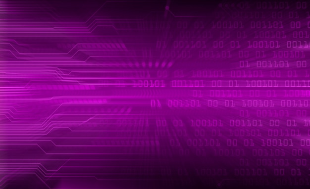 Priorità bassa futura di tecnologia del circuito cyber viola del mondo