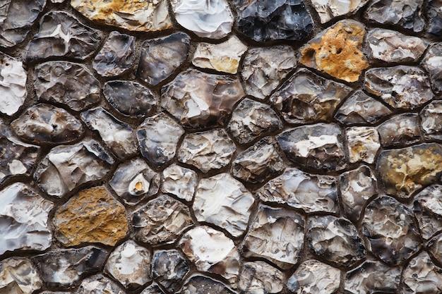 Priorità bassa grigia e marrone della parete di pietra del grunge