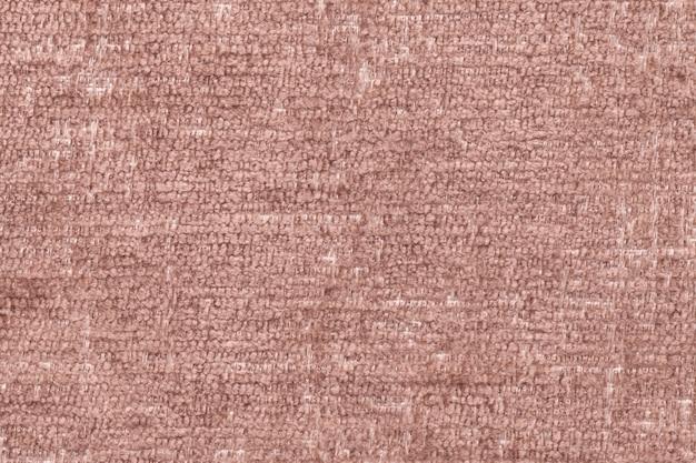 Priorità bassa lanuginosa del brown del panno molle e lanoso, struttura del primo piano della tessile