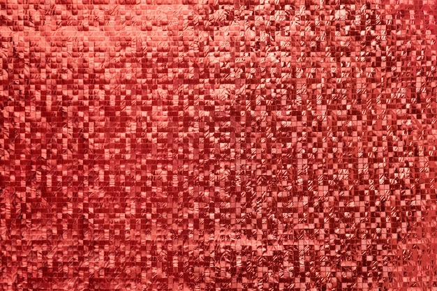Priorità bassa quadrata rossa metallica 3d