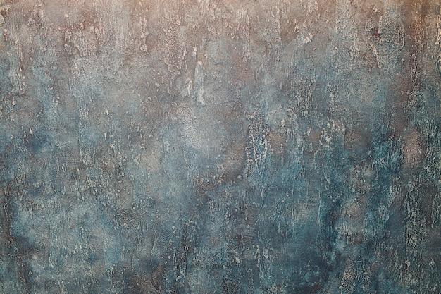 Priorità bassa scura del blu scuro del grunge astratto, parete strutturata.