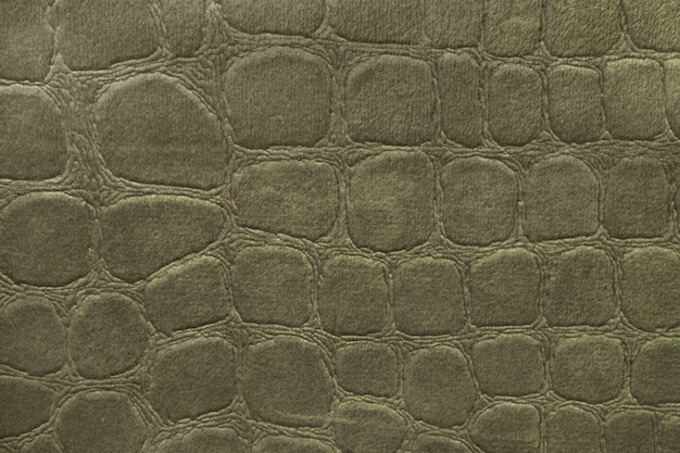 Priorità bassa verde dalla materia tessile molle della tappezzeria, primo piano. tessuto con motivo