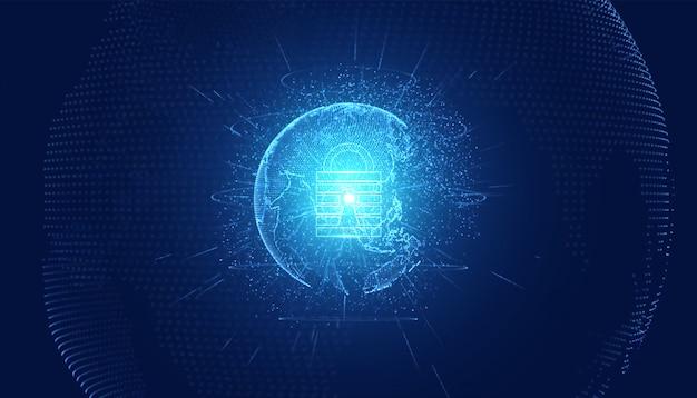 Privacy astratta di cybersecurity di tecnologia