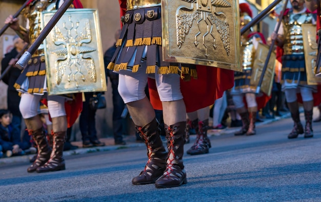 Processione di pasqua a tarragona, in spagna