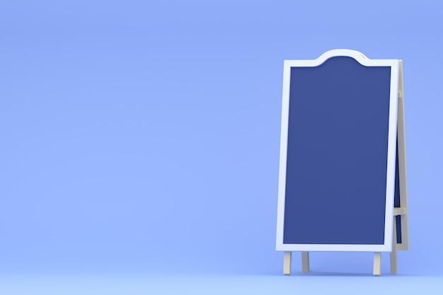 Processo cancella scheda, poster, segni di commercio al dettaglio, stand fieristico, mercato. illustrazione rendering 3d