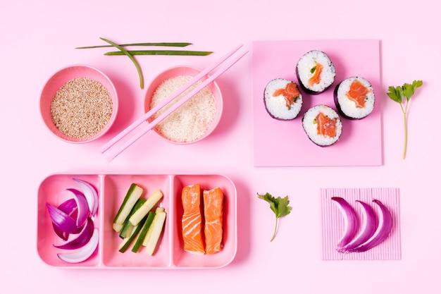 Processo di produzione di sushi