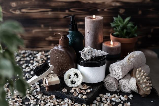 Prodotti biologici per bagno e spa
