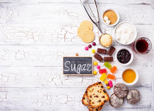 Prodotti malsani ricchi di zucchero