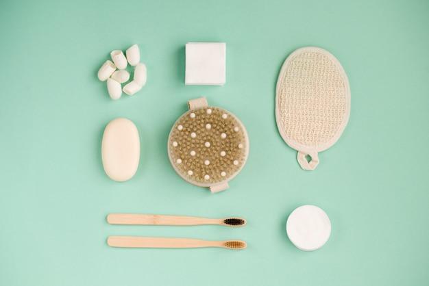 Prodotti per la cura del corpo eco. sapone fatto a mano, tovaglioli per il trucco.