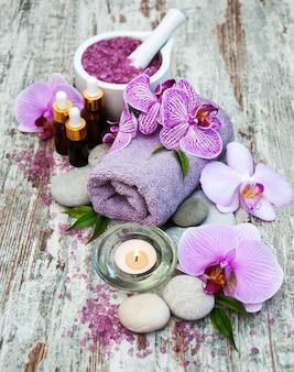 Prodotti termali con orchidee