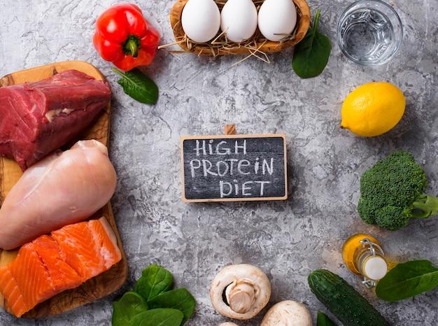 Prodotto per dieta ricca di proteine