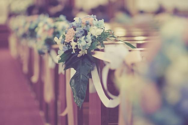 Profondità di campo molto piccola, decorazione di nozze