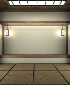 Progettato specificamente in stile giapponese, stanza vuota.