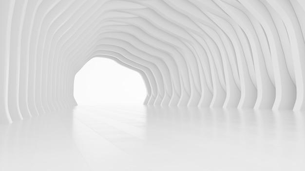 Progettazione architettonica astratta illustrazione interna futuristica bianca del fondo