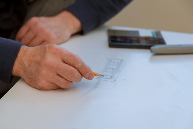 Proiezione iniziale fase preparatoria nella costruzione di nuovi edifici