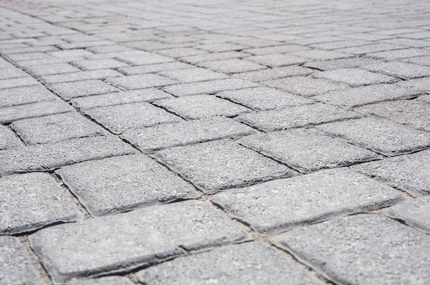 Prospettiva di pavimentazione in mattoni