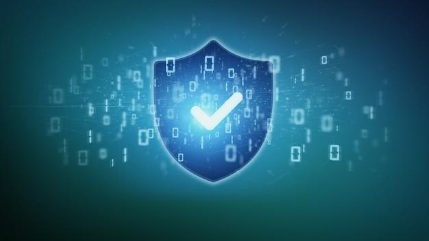 Proteggi il concetto di sicurezza di web su una rappresentazione del fondo 3d