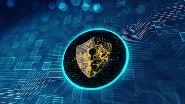 Protezione dei dati concetto di sicurezza informatica.
