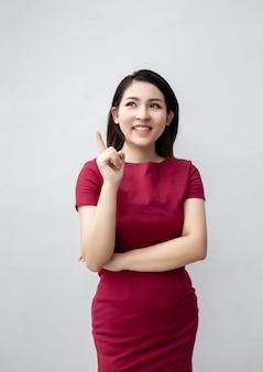 Punto astuto di sguardo del vestito da affari della corsa cinese asiatica