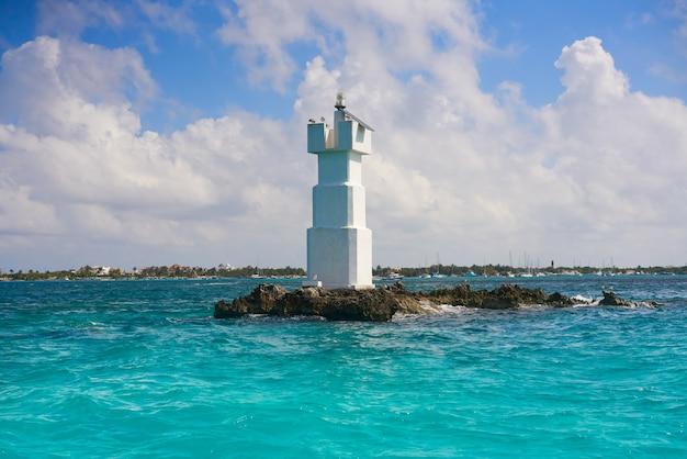 Punto di snorkeling di el farito, faro di isla mujeres