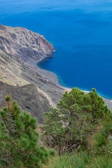 Punto di vista di las playas, isola di el hierro, isole canarie, spagna