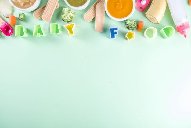 Purea di alimenti colorati per bambini
