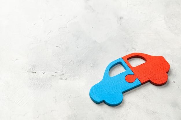 Puzzle auto. condividere l'auto. parti della macchina