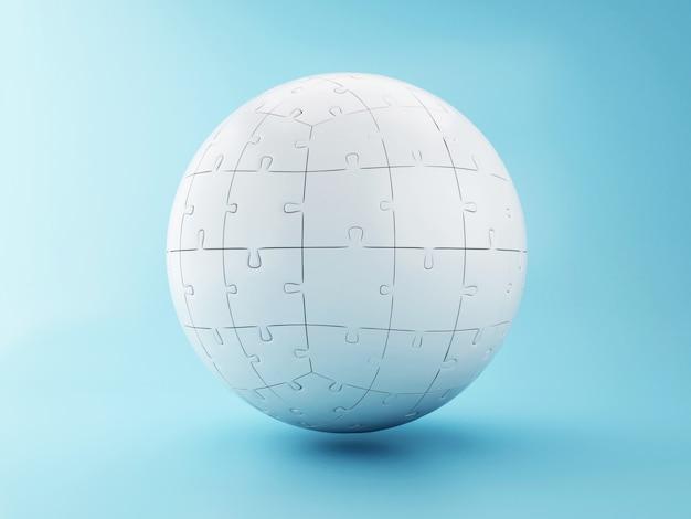 Puzzle sferico 3d