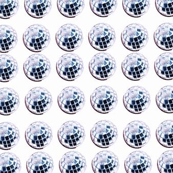 Raccolta di molte sfere d'argento di ornamento
