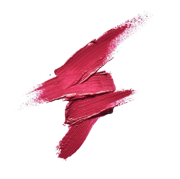 Raccolta di vari rossetti sbavature su sfondo bianco