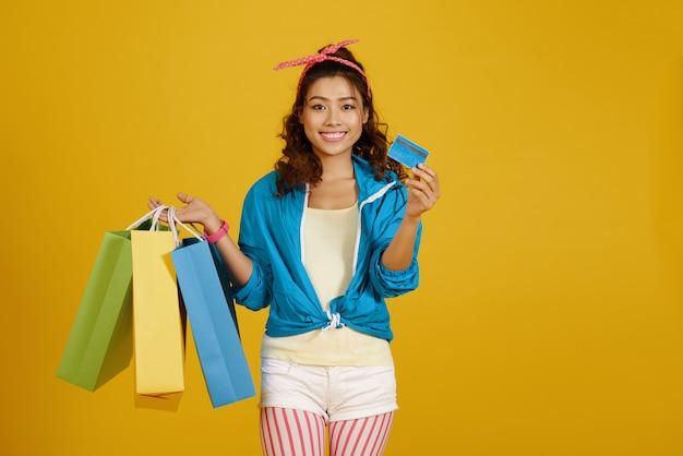 Ragazza dello shopping