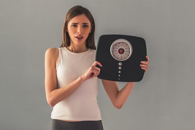 Ragazza e perdita di peso