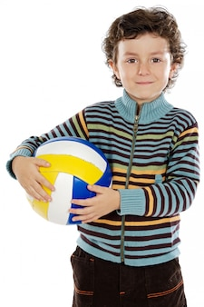Ragazzo adorabile che sogna di essere di calcio