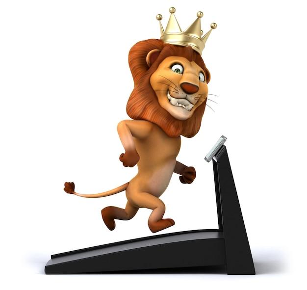 Rappresentazione 3d del leone divertente