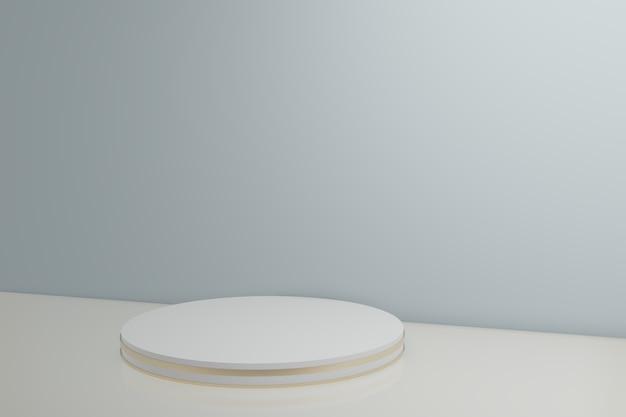 Rappresentazione 3d della cabina bianca e blu