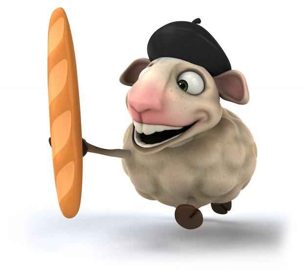 Rappresentazione 3d delle pecore divertenti