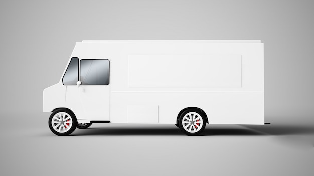 Rappresentazione 3d di un camion dell'alimento