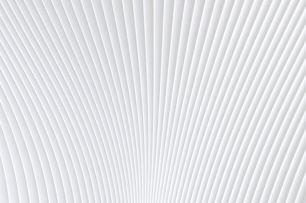 Rappresentazione 3d, fondo astratto di bianco di architettura dell'onda della parete