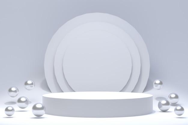 Rappresentazione 3d, fondo astratto minimo del podio per la presentazione cosmetica del prodotto, forma geometrica astratta