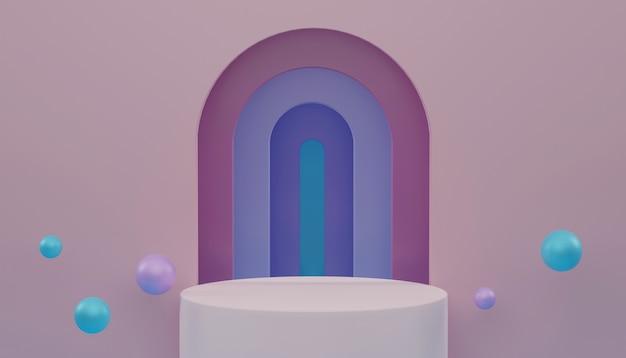 Rappresentazione 3d, fondo cosmetico astratto di colore pastello.