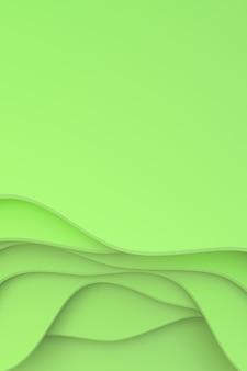 Rappresentazione 3d, progettazione astratta del fondo di arte del taglio della carta per il modello del manifesto