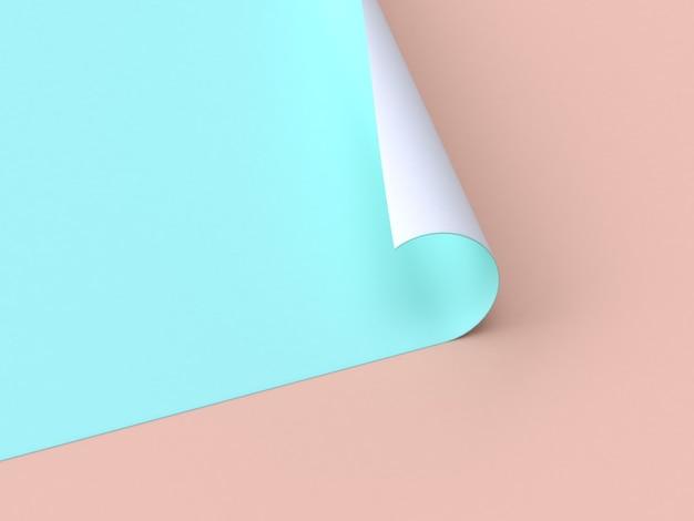 Rappresentazione astratta della priorità bassa 3d della crema di carta astratta del verdeblue