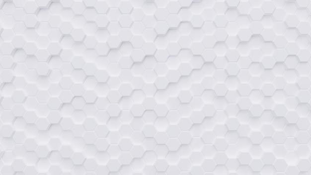 Rappresentazione bianca del fondo background.3d di esagono