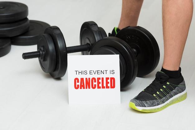 Rappresentazione dell'evento sportivo annullata