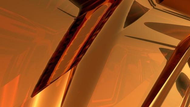 Rappresentazione di vetro marrone astratta del fondo 3d